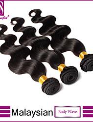 Trame cheveux avec fermeture Cheveux Malaisiens Ondulation naturelle 3 Pièces tissages de cheveux