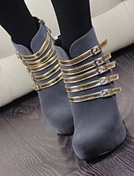 Temperament with Phnom Penh Side Zippers Thick Bottom Women's Wedding Thin Heel Platform Pumps/Heels Boots