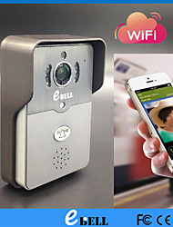 ATZ E-Bell® Full Duplex Audio WiFi Doorbell Camera HD IP Video Door Phone Support Max. 64GB TF Card and PIR