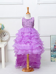 Girl's Vogue  Cotton Blend Fall/Winter Swallow Tail Gauze Splice  Flowers  Gauze  Princess Dress
