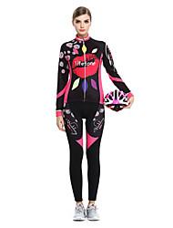 2015 LIFETONE Outdoor Bike Jerseys Winter Jersey Long Sleeve Fleece Set-hot Lips