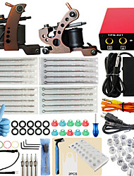 ITATOO® Complete Tattoo kits Set 2 Coil Tattoo Machines with Free Gift of 54 Tattoo Ink Pigment