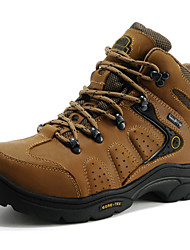 Unisex Athletic Shoes Hiking Comfort Nappa Leather Fall Winter Athletic Outdoor Light Brown 1in-1 3/4in