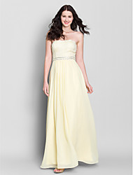 Lanting Ankle-length Chiffon Bridesmaid Dress - Daffodil A-line Strapless
