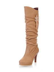 Women's Shoes Stiletto Heel Round Toe Knee High  Boots More Colors available