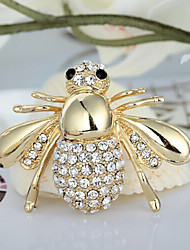 la mode en strass brillant mignon abeille Broche