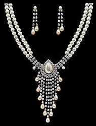 Jewelry Set Women's Anniversary / Wedding / Engagement / Gift / Party / Special Occasion Jewelry Sets Imitation Pearl / Alloy / Rhinestone