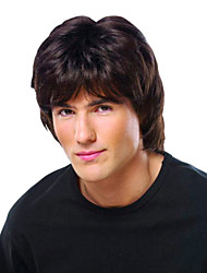 Natural Men's Wig Hand Tied-Top Human Virgin Remy Capless Hair Wigs