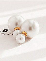 Imitation Pearl Earring Stud Earrings Wedding / Party / Daily / Casual 1set