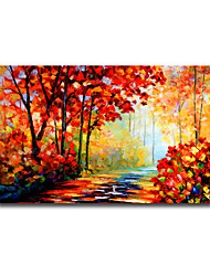 Knife Oil Painting Beautiful Scenery Landscape Modern Pastoral Style