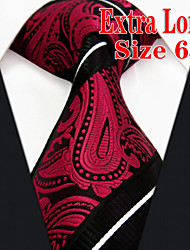 Men's Tie  Red Paisley  100% Silk Business New Wedding