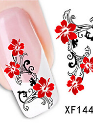 1 PCS 3D Water Transfer Printing Nail Stickers XF1441