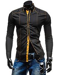 Informell Hemdkragen - Langarm - MEN - Freizeithemden ( Baumwoll Mischung )