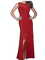 Womens Long Evening Wedding Cut Out Bodycon Cocktail Party Maxi Dress