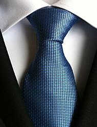 Men Wedding Cocktail Necktie At Work Blue Double Leaf