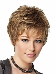 New  Style Syntheic Wigs Extensions Blonde  Color  Bang Of Wigs