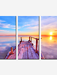 Romantic Seascape Canvas Print Three Panels Stretched Canvas Painting