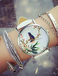Жен. Модные часы Часы-браслет Кварцевый Секундомер PU Группа Черный Белый Зеленый Розовый