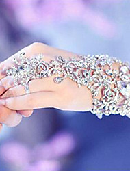 Luxury Crystal Bridal Hand Chain Dancing Hand Bracelet & Bangles With Ring Jewelry Bridal Glove Wedding Accessories