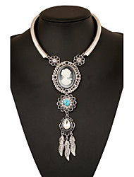 Women's Pendant Necklaces Statement Necklaces Alloy Drop Statement Jewelry Gold Silver Jewelry