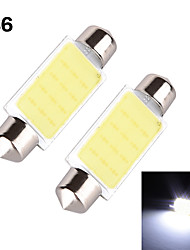 YOBO 3W 350-380LM Festoon 36MM 1D COB LED Light for Car Steering Light Bulb / Reading Lamp - (2 PCS /DC 12V)
