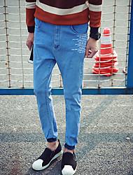 Jean ( Coton / Denim ) Informel Taille Normale à Ample pour Homme