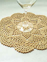 12pcs/Lot 28cm Round Handmade Crochet Table Doilies