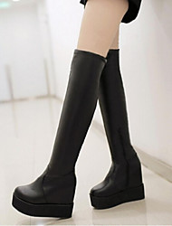 Women's Shoes Platform Riding Boots Boots Casual Black / White