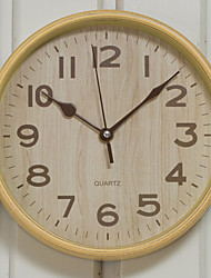 Naturally Stype Wood Quartz Wall Clock