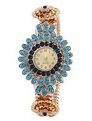 orologio fiore di cristallo braccialetto orologi moda femminile