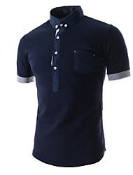 Men's Short Sleeve Polo , Cotton Casual Pure