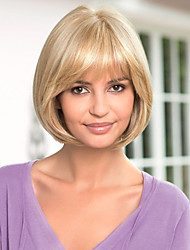 Classical Bob Wig Hand Tied Top Human Virgin Remy Short Straight Female Hair Wigs