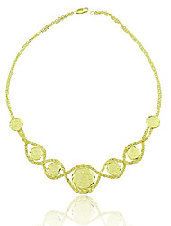 18K Gold Plated Ancient Coins Necklace