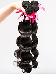 """cheveux vierges malaisien non transformés regroupe 3pcs d'onde du corps / lot 8 """"-30"""" couleur teignables pas verser aucune enchevêtrement"""