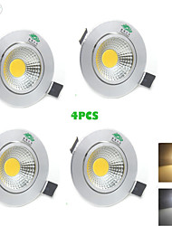 4PCS Zweihnder® 3W 300Lm COB LED Ceiling Lamp Downlight Warm White Light