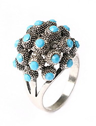 Coral Beach Gemstone Flower Ring for Women