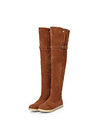 Women's Shoes Flat Heel Round Toe Above The Knee  Boots More Colors available