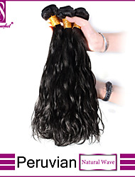 3pcs Peruvian Hair Bundles Weaves Natural Black Natural Wave Hair Weft 100% Unprocessed Brazilian Human Hair Weft
