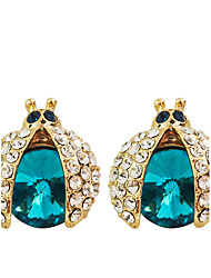 Earring Stud Earrings Jewelry Women Party / Daily / Casual Crystal / Gold Plated 2pcs