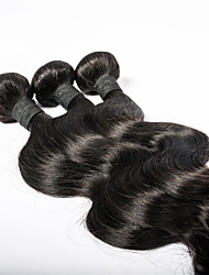 Holiday Gift Mongolian Virgin Hair Body Wave 3PCS/Lot Natural Black Color Can Be Dyed Soft Virgin Hair