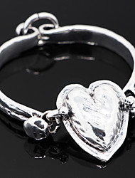 Alloy Heart Shape Bangle Bracelet