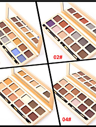 12 Colors Lidschattenpalette Matt Lidschatten-Palette Puder Set Alltag Make-up / Smokey Makeup