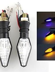 2x carchet 12 LED SMD 3528 moto double tour de couleur indicateur signal clignotant