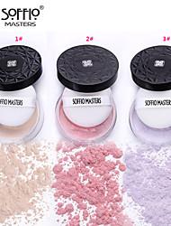 1 Polvo Seco Polvo Gloss brillante / Cobertura / Larga Duración / Corrector / Tono de Piel Desigual Rostro Morado / Rosa / Marfil