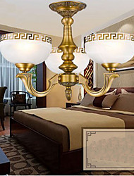 Full Copper lamp Marble Dining Hall Original Modern Copper Chandelier