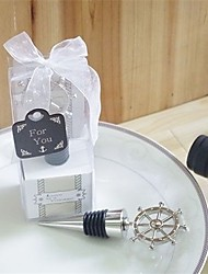 Ship's Wheel Nautical Wine Bottle Stoppers