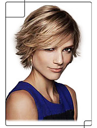 Pretty Cool Hand Tied -Top Human Virgin Remy Short Straight Capless Hair Wig