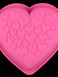 DIY Silicone Heart Cake Mold Chocolate Mold   Random Color