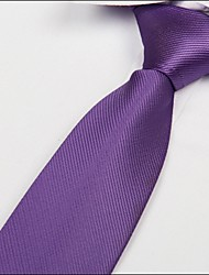 Light Purple Twill Necktie Polyester Silk Arrow Jacquard Tie