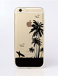 Para Funda iPhone 6 / Funda iPhone 6 Plus Transparente / Diseños Funda Cubierta Trasera Funda Paisaje Suave TPUiPhone 7 Plus / iPhone 7 /